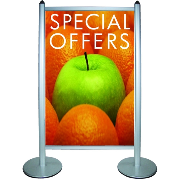 Image of   Multi Stand Banner Wall Alu/sølv - 100 x up to 170cm