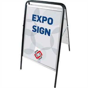 Expo Sign Standard gadeskilt Sort - Poster: 50 x 70 cm