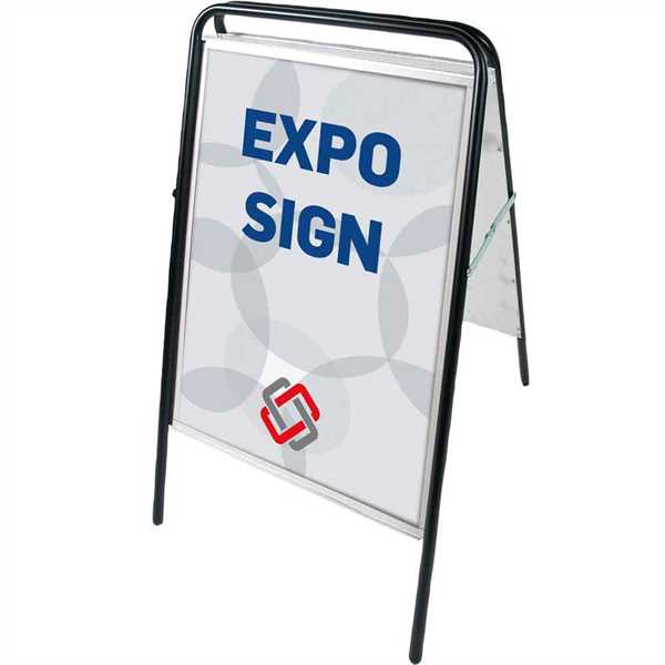 Image of   Expo Sign Standard gadeskilt Sort - Poster: 50 x 70 cm