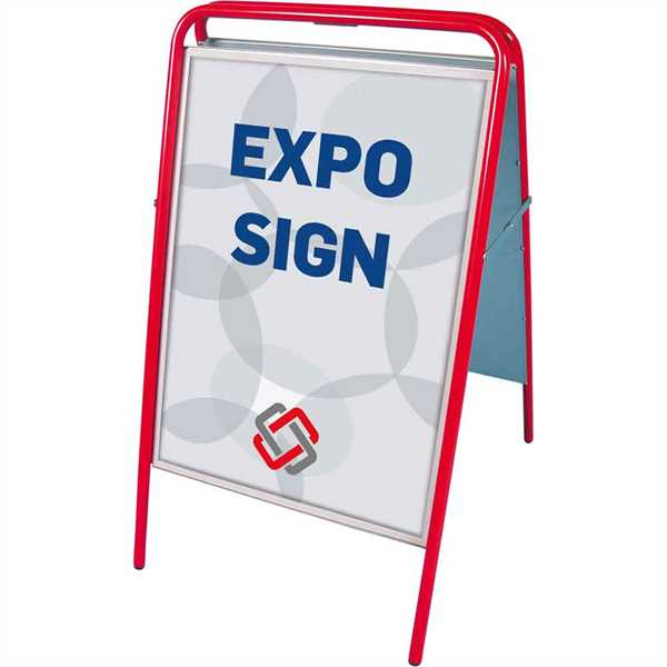 Image of   Expo Sign Standard gadeskilt Rød - Poster: A1 - 59,4 x 84,1 cm