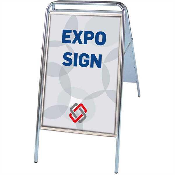 Expo Sign Standard gadeskilt Sølv - Poster: 70 x 100 cm
