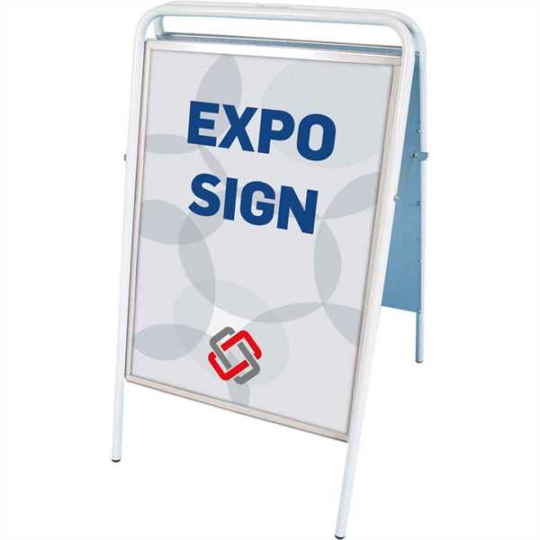 Expo Sign Standard gadeskilt Hvid - Poster: 70 x 100 cm