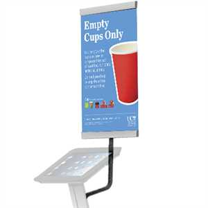 Banner holder for iPad Stand A3