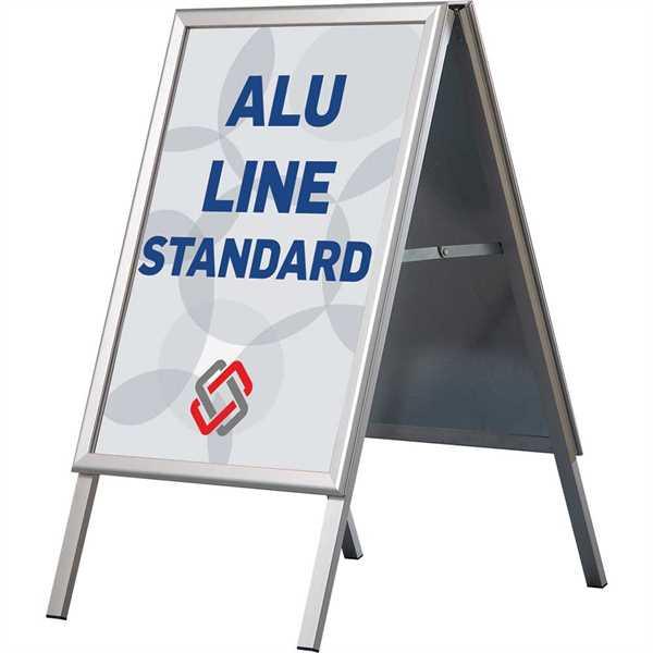 Image of   Alu-Line Standard Gadeskilt - Alu/elox. - Poster: A0 - 84,1 x 119 cm