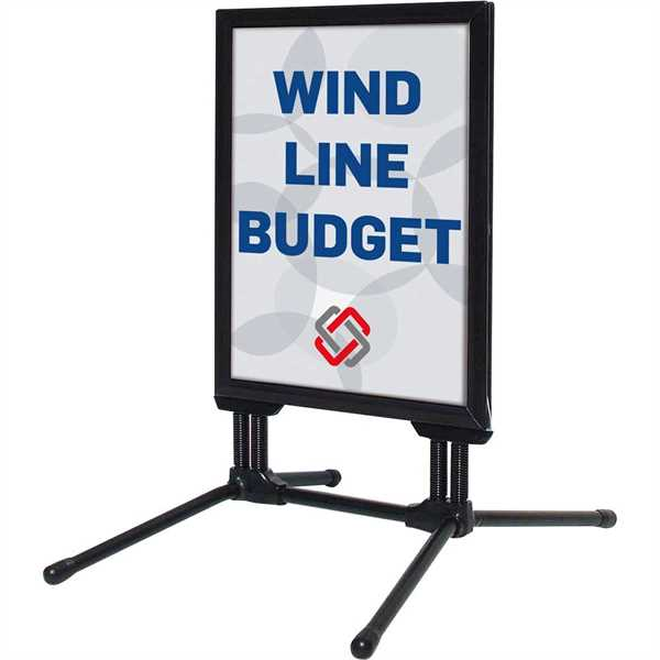 Image of   Wind-Line Budget gadeskilte sort