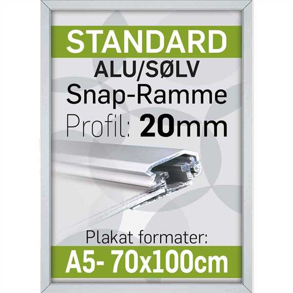 Image of   Alu Klap-Ramme 20 mm