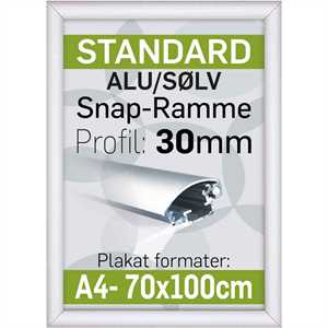 Alu Snap-Ramme 30 mm