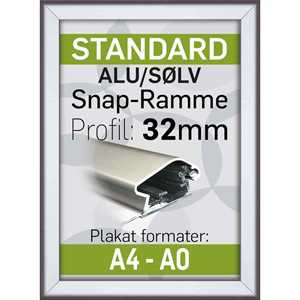 Alu Snap-Ramme 32 mm profil