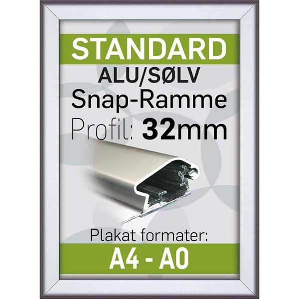 Alu Snap-Frame 32 mm