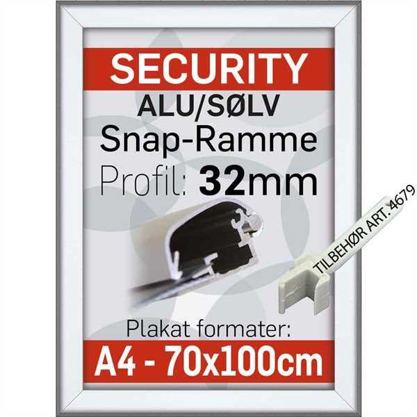 Security Frame 32 mm Alu