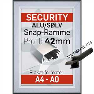 Security frame, væg, 42 mm  - Poster: A2 - 42 x 59,4 cm