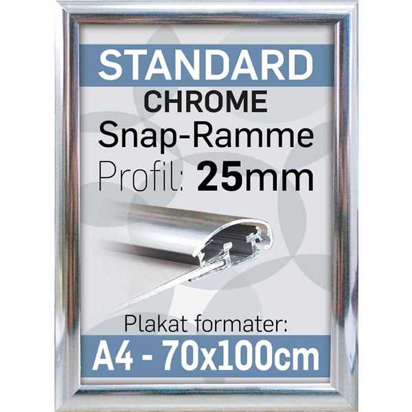 Alu Snap-Frame Krom 25 mm