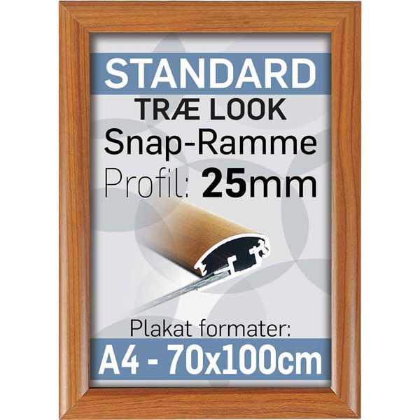 Klapramme 25 mm Alu profil Trælook
