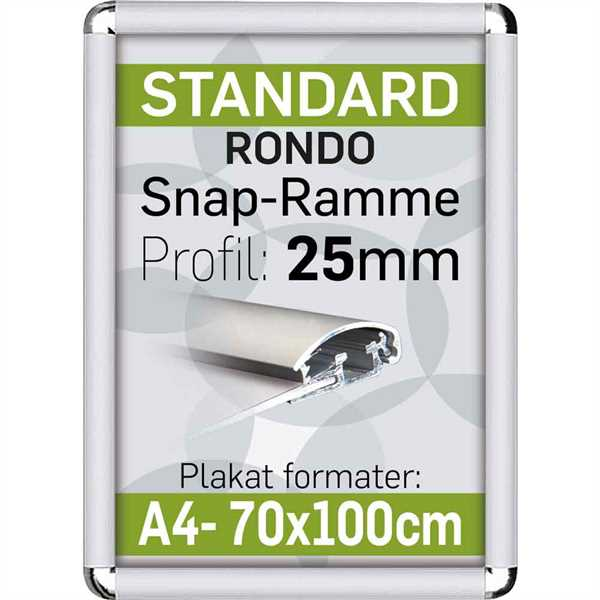 Alu Snap-Frame RONDO 25 mm