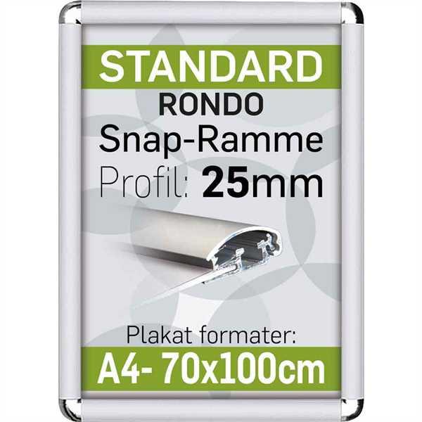 Alu Snap-Frame RONDO 25 mm