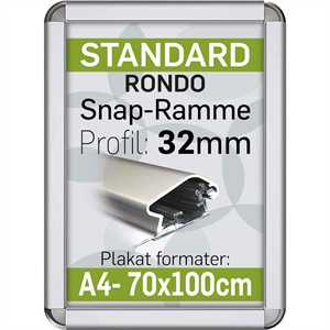 Alu Snap-Ramme Rondo 32 mm