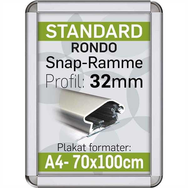Alu Snap-Frame RONDO 32 mm