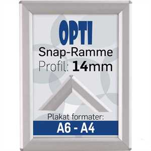 Opti Snap-Frame, 14 mm Alu  - Poster: A6 - 10,5 x 14,8 cm
