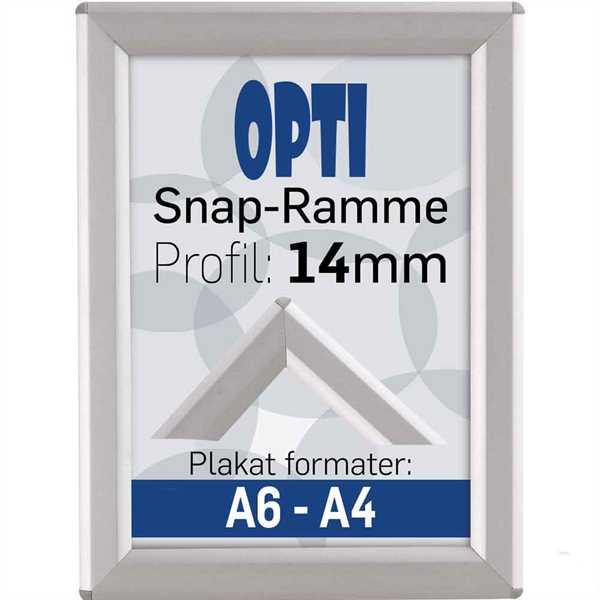 Opti Snap-Ramme m 14 mm Alu