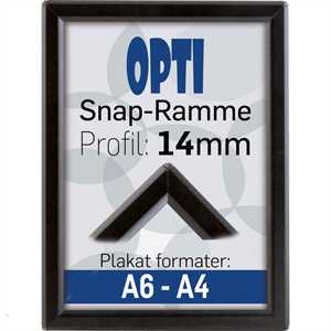 Opti klapramme 14 mm Sort