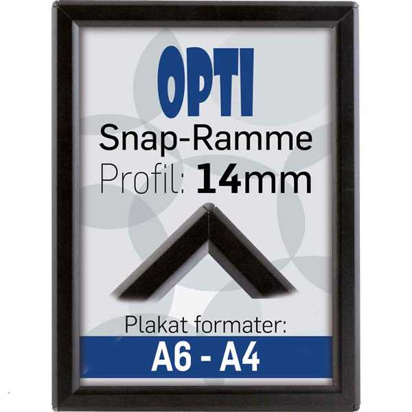 Image of   Alu klapramme 14 mm profil Opti Frame sort A5