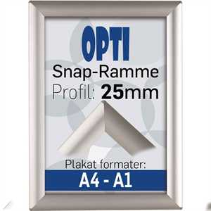 Opti Snap-frame, 25 mm Alu  - Poster: A4 - 21 x 29,7 cm