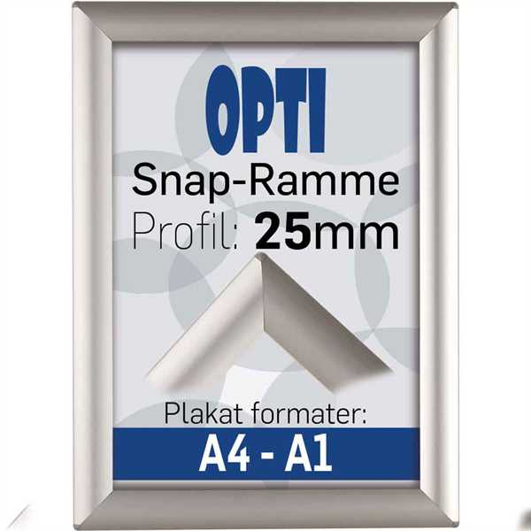 Opti Snap-frame, 25 mm  Alu  - Poster: 50 X 70 cm